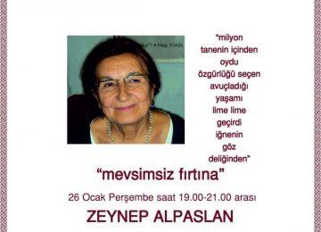 OCAK AYI ŞİİR ETKİNLİĞİ – konuk şair Zeynep Alpaslan