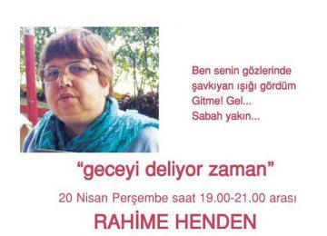 Nisan ayı şiir etkinliği- konuk şair Rahime HENDEN
