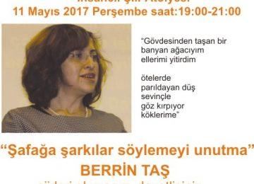 Mayıs ayı şiir etkinliği-Konuk Berrin TAŞ
