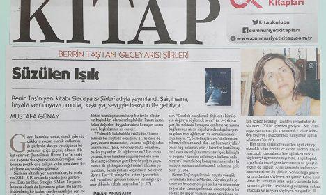 Berrin Taş, Cumhuriyet Kitap ekinde